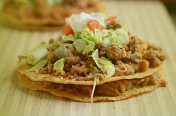 como son las tostadas de la cocina mexicana