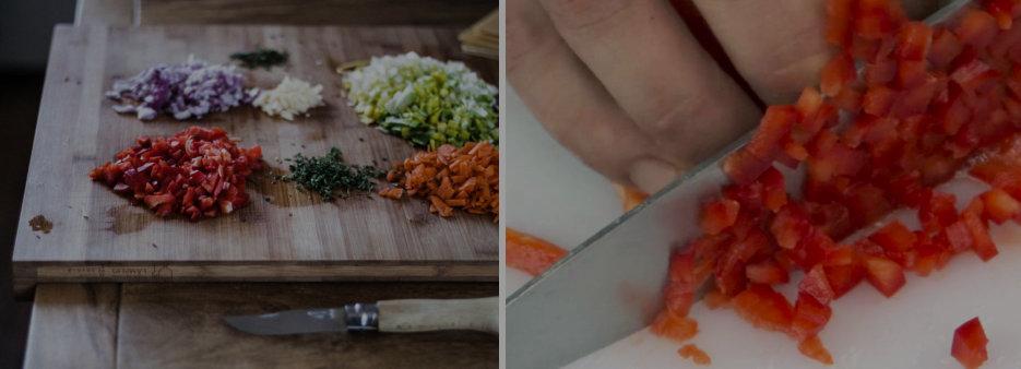 Tipos de Cortes en Cocina Profesional Brunoise