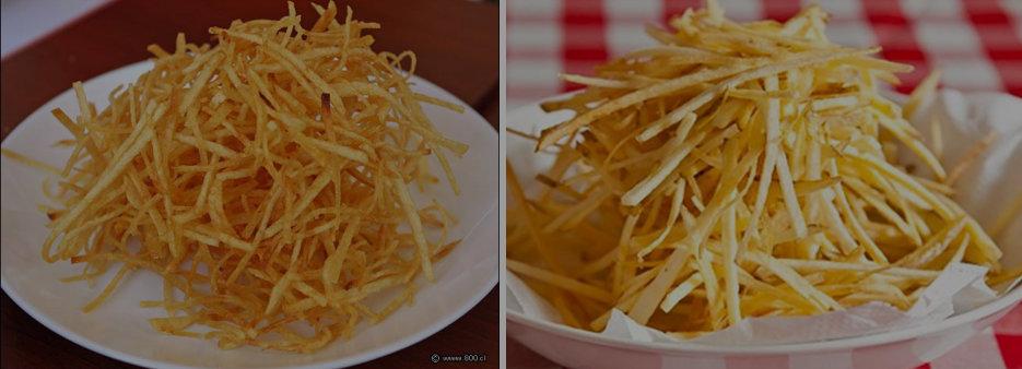 Tipos de Cortes en Cocina Profesional patatas paja