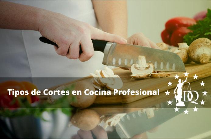 Tipos de Cortes en Cocina Profesional