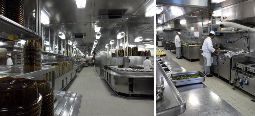 Interior Cocina de un Crucero