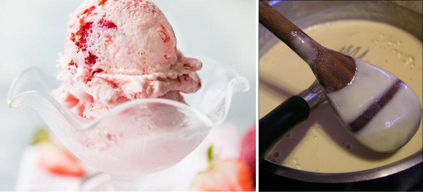 helado preparado por los cocineros de un crucero